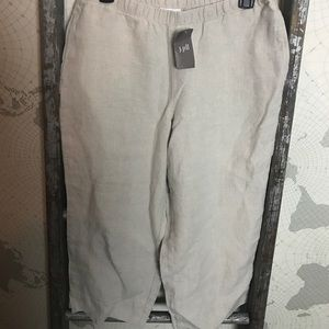 J Jill flax linen Capri pants Small petite NWT